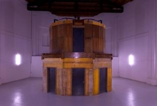 La rotonda, 2010,   h 640  655x655 cm, mixed materials, Centro Arti Visive Pescheria Pesaro