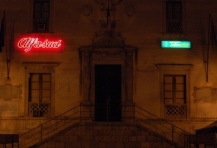 Alfasud 1x2, 2010, neon and light box, Palazzo del Comune Termini Imerese (Pa)