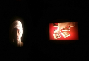 Viviana Rasulo's photo exhibition at Teranga, view of two light boxes, courtesy photo pr/undercover