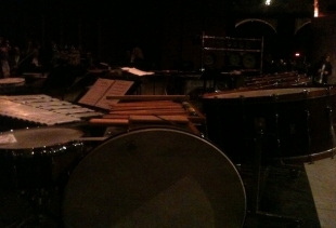 Sofia Gubajldulina, Glorious Percussions, detail of the crowded music chamber