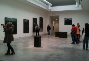 T. De Cordier and Richard Serra's room at Palazzo Esposizioni, Giardini, courtesy photo pr/undercover