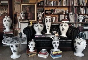 Fornasetti's porcelain for Bitossi