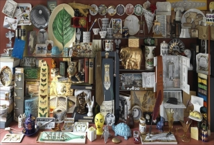 Shop window: a small wunderkammer with vintage pieces by Piero Fornasetti courtesy Fornasetti Archive<br />