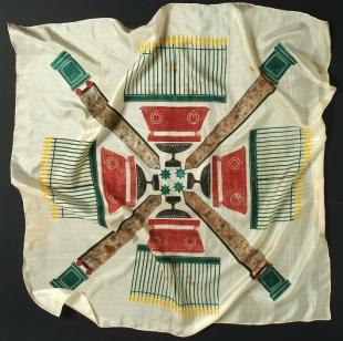 Silk foulard Obelischi, Piero Fornasetti, 1939. Courtesy Fornasetti<br /> <br />