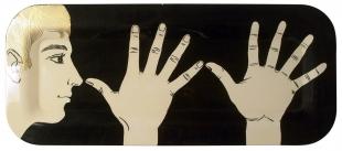Tray Marameo,  Piero Fornasetti, '50ies, 25x60 cm.<br />