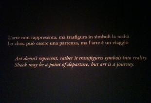 One of the sentences of Melotti's section at Peggy Guggenheim Collection