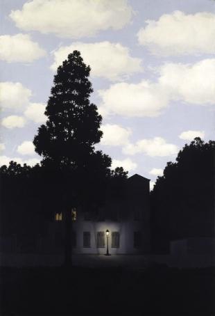 René Magritte, L'impero della luce (L'Empire des lumières)<br /> 1953–54, Oil on Canvas, Collezione Peggy Guggenheim, Venezia <br />