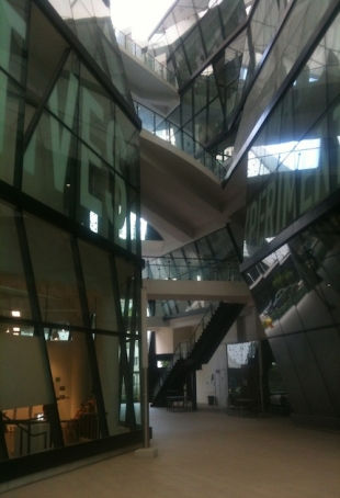 Lasalle Centre of Arts, Singapore, detail of basement level, courtesy photo pr/undercover