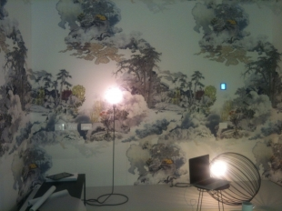 One of the Living Magazine interiors made by artists (curator F. Romeo)