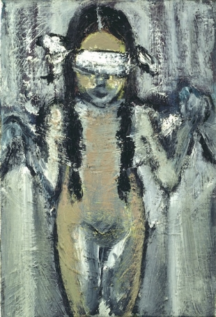 Marlene Dumas, Justice, 1992. Oil on canvas, 25 x 20 cm. Courtesy Zeno X Gallery, Antwerp. Photo Felix Tirry