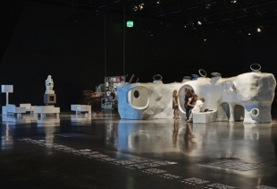 AVL (Atelier Van Lieshout) at Design Miami Basel with The Original Dwelling (courtesy Carpenter's Gallery)