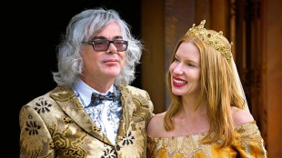 David Walsh when married Kirsha Kaechele. Source The Australian, ph. Jonathon Wherrett<br />