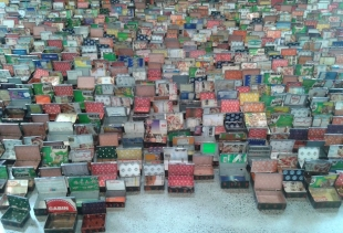 Al Anatsui (detail of Opening Market, 2004) at Carriage Work, a peformance oriented private foundation
