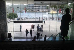 Museum of Contemporary Art (MAC), view of the entrance on the quai - courtesy pr/undercover