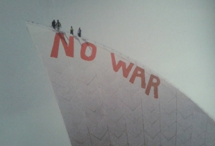 from the Disobedient Objects (MAAS): No War Opera House Snow Dome by David Burgess, 2004