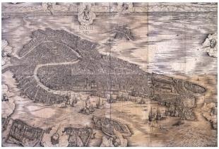 Jacopo De' Barbari: Veduta di Venezia a volo d'uccello at Manuzio (Gallerie Accademia)