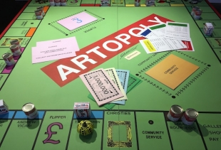 Artopoly, a table game seen at Moniker (artist: D. Z. Coleman, ph. courtesy pr/undercover)