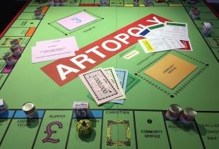 Artopoly, a table game seen at Moniker (artist: D. Z. Coleman, ph. courtesy pr/undercover)