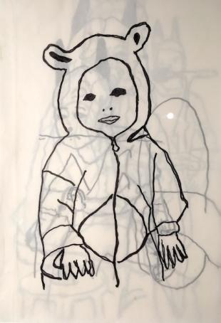 H. Korine's drawing at Centre Pompidou - ph. pr/undercover