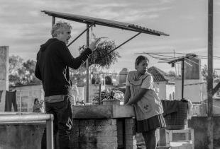 A still from the movie Roma by Alfonso Cuaron