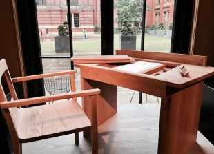 Wooden Hinges by Raw Edges at V&A ph Diana Marrone
