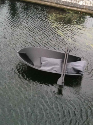 foald boat, grey colour