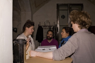 Making of, Hannah and James discussing with the curator Diana Marrone  / courtesy Tatiana Uzlova