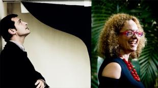 Luca Massimo Barberio (left, photo Altrospazio Roma) and Carolyn Christov-Bakargiev (right, photo Edoardo Knapp)
