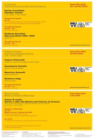 Save the date: all press previews of Correr, Ca' Pesaro and Palazzo Fortuny Museums of Venice