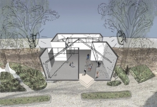 Dutch Pavilion, installation drawing, courtesy photo NAI and Petra Blaisse