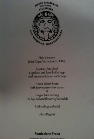 One of the can-recipes of Fluxus Dinner, courtesy pr/undercover