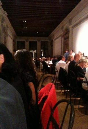 A moment of the dinner table at Fluxus dinner, courtesy pr/undercover