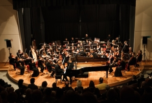 FVG Mitteleuropa Orchestra, courtesy photo Glauco Comoretto, Fondazione la Biennale di Venezia SPA<br />