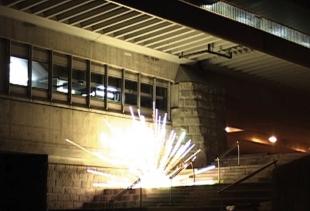 Johannes Lurf, 1982 Wien, 12 Explosionen (2008, Video 06')<br />
