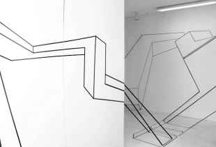 Mathias Isouard Dessins d'espaces (2009, Installation, Mixed media)